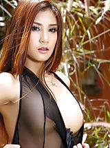 Laila 03, Sweet Asian Lady In Fine Lingerie Outdoors