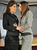 Defrancesca Gallardo and Eufrat in Lesbian Office Excecutives