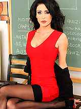 Jessica Jaymes chooses to let her student slide his magicstick into her pussy and screw her on the teacher desk.